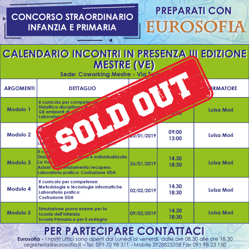 500x500 concorso calendario MESTRE SOLD OUT