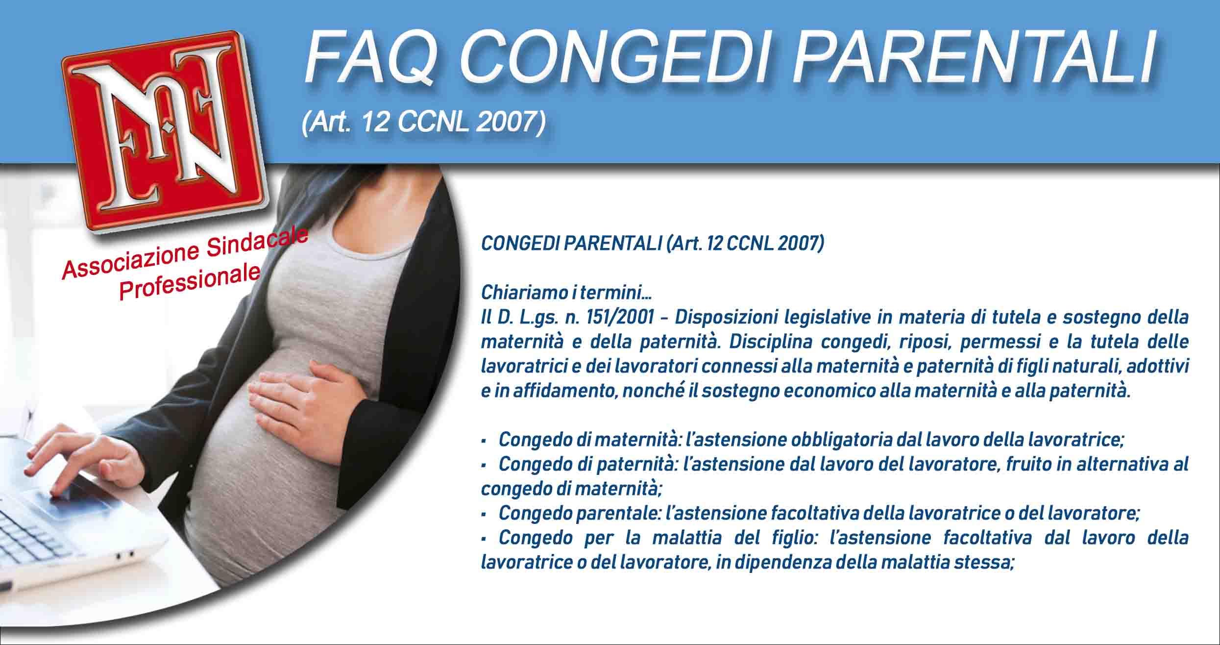 Faq Congedi Parentali Art 12 Ccnl 2007