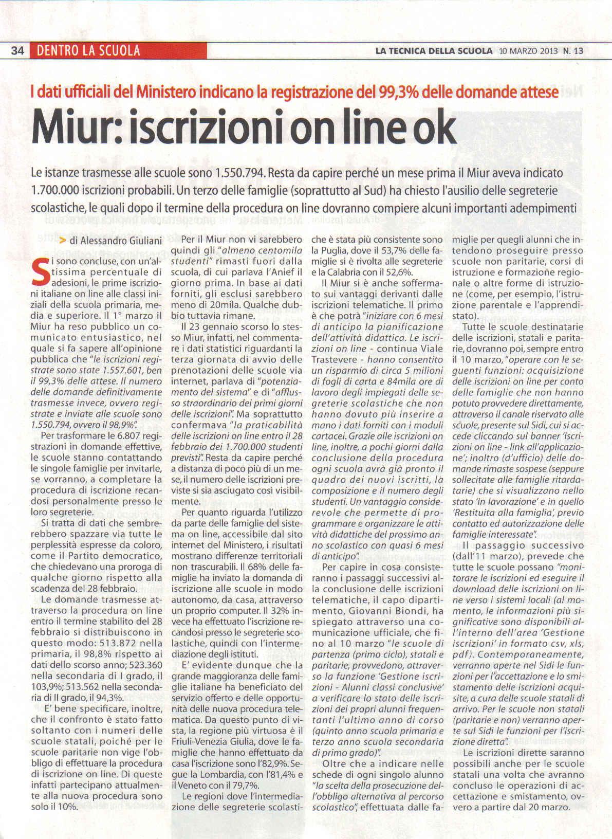 Miur iscrizioni on line